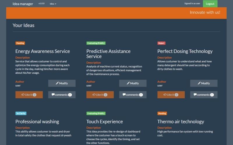 Idea Manager per il design innovativo